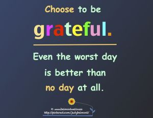 choose to be grateful - judy belmont