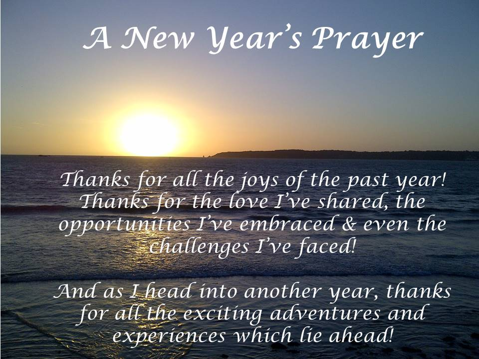 new year prayer of thanks